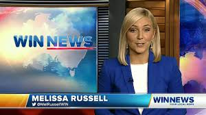 WIN News QLD sports presenter Melissa Russell first night - YouTube