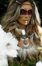 indian makeup white image