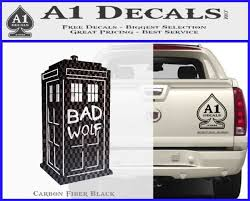 Car Truck Window Bad Wolf Doctor Who Tardis Vinyl Decal Sticker