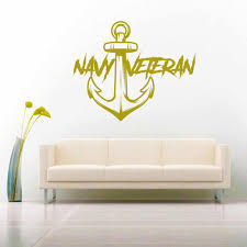 U S Navy Veteran Anchor Vinyl Car Window Decal Sticker Military Decals