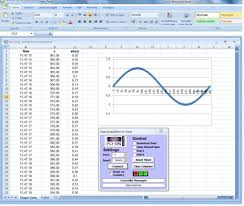 arduino and real time charts in excel