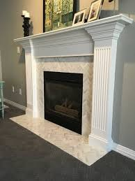 carrera marble fireplace home