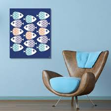 Creative Gallery 16 In X 20 In School Of Fish Coral Metal Wall Art Print Ret00685m1620fm The Home Depot