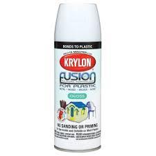 krylon fusion for plastic gloss white