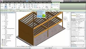 revit modeling steel concrete and wood