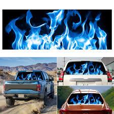 Burning Blue Flame Totem Car Rear Window Stickers Truck Suv Leather Cartoon Models Wish