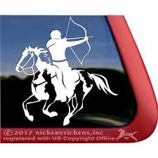 Mounted Archery Man American Paint Horse High Quality Vinyl Window Decal Walmart Com Walmart Com