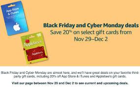 amazon black friday gift card deals