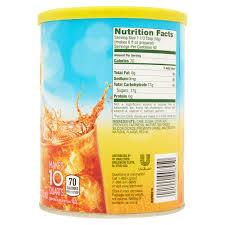 lipton black iced tea mix lemon 10 qt