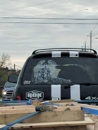 Elaborate Spawn Decal On The Back Of This Suv Spawn