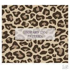 Leopard Tan Pattern Choose Adhesive Or Htv Standout Vinyl