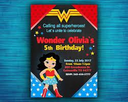 Wonder Woman Invitation Wonder Woman Party Invitation Wonder