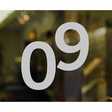 Die Cut 0 To 9 Number Window Decal Set Signs Sku Lb 1766