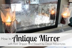 antique mirror using paint stripper