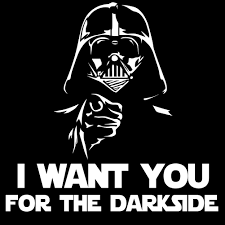 I Want You For The Darkside Darth Vader Vinyl Sticker Car Decal