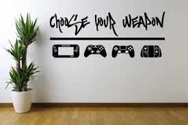 Choose Your Weapon Video Game Wall Decal Sticker For Game Etsy Game Room Decor Boys Game Room Game Room Design
