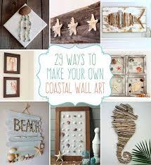 29 beach crafts coastal diy wall art