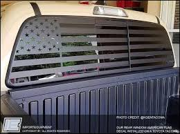 Custom American Flag Rear Window Decal Choose Your Size Importequipment Truck Decals Rear Window Decals Custom Trucks