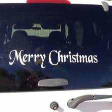 Diy Merry Christmas Door Decal Vinyl Car Decal Quote Words Wall Hoilday Craft Ebay
