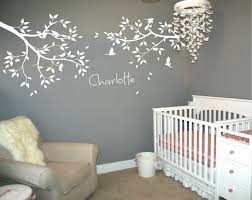 2 Tree Branches Birds Flower Wall Decal Personalized Name White Tree Wall Stickers Decor Baby Kids Room Wallpaper Size 35 83 In Wall Stickers Aliexpress