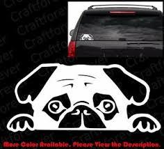 Peeking Pug Puppy Doggy Dog Die Cut Vinyl Decal Car Window Phone Sticker Am011 Ebay