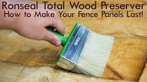 How To Treat A Fence Panel So It Will Last Ronseal Total Wood Preserver Video Youtube