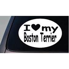 I Love My Boston Terrier Dog Sticker Truck Window 6 Sticker Decal C387 Walmart Com Walmart Com