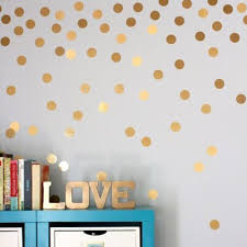 2017 Hot Sale Stylish Gold Dots Wall Sticker Round Dot Pattern Decal Home Interior Decoration For Living Room Bedroom Wallpapers Aliexpress