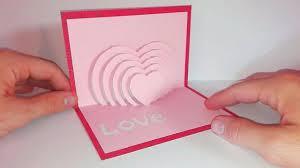 carte popup coeur en kirigami diy