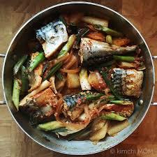 Korean Spicy Braised Mackerel #SundaySupper