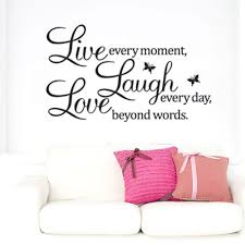 Inspirational Wall Decal Live Laugh Love