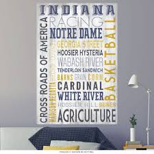 Indiana State Word Cloud Wall Decal At Retro Planet