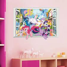 Home Garden Decor Decals Stickers Vinyl Art My Little Pony Fluttershy Wall Stickers Mural 19 Decals Horse Room Decor Mlp Anios Am