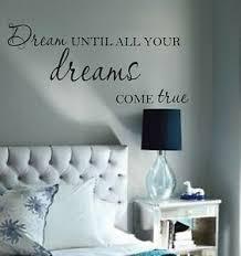 Dream Until All Your Dreams Come True Vinyl Wall Decal Bedroom Decor Lettering Ebay