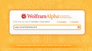 using wolfram alpha to solve equations