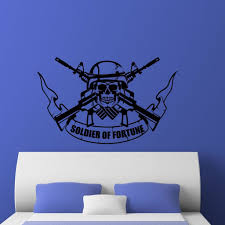Soldier Of Fortune Military Wall Sticker Decal World Of Wall Stickers