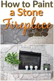 how to update a stone fireplace with