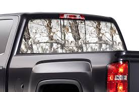 Chevy Silverado Rear Window Decals Winter Camo Racerx Customs Truck Graphics Grilles And Accessories