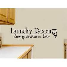 Decal Laundry Room Drop Your Drawers Here Wall Decal Home Decor 10 X 29 Walmart Com Walmart Com