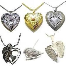 heart locket necklace pendant