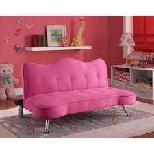 Convertible Sofa Bed Couch Kids Futon Lounger Girls Pink Bedroom Furniture Twin Pink Bedroom Furniture Futon Sofa Kids Sofa