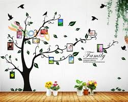 Photo Frame Wall Decal Tree Sticker Family Branches Quote Etsy