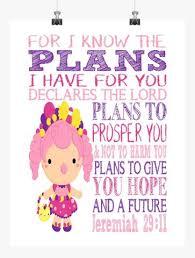 Bubbleisha Shopkins Christian Nursery Decor Print For I Know The Plan Pixie Paper Store
