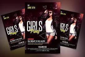 s party psd free flyer template