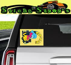 Decals Bumper Stickers Pacman Eating Mustang Vehicle Cartruck Window Decal Sticker Itrainkids Com