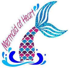 Sparkly Mermaid Tail Mermaid At Heart Vinyl Reflective Car Decal Sticker Ebay