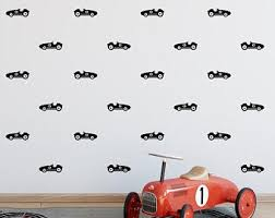 Race Car Wall Decals Etsy