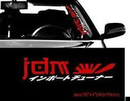 Jdm Kanji Car Sticker Windshield Windscreen 16 Front Glass Window Decal Mugen Ebay