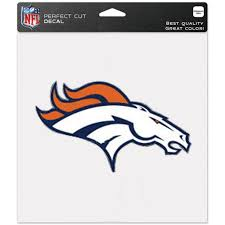 Denver Broncos Wincraft 8 X 8 Color Car Decal