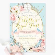 Cinderella Birthday Party Invitation Princess Birthday Invitation